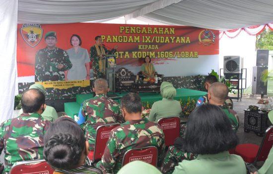 Pangdam IX/Udayana Gelar Kunker Perdana di Kodim 1606/Lobar