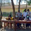 Polsek Teluk Mengkudu Bersama Koramil 09/TM, Himbau Masyarakat Patuhi Prokes