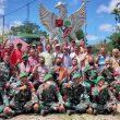 Dansektor Timur Letkol Bayu Sigit Komsos Dengan Masyarakat Dafala dan Serahkan Bantuan Tali Asih