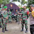 Satgas Pamtas RI-RDTL Yonif 742/SWY Backup Pengamanan Perayaan Paskah di Belu